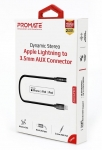 Promate AUXLink-I Dynamic Stereo Apple Lightning to 3.5mm AUX Connector - Black