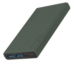 Promate BOLT-10 10000mAh Dual Port Powerbank - Midnight Green