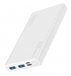 Promate BOLT-10 10000mAh Dual Port Powerbank - White