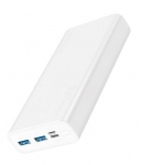 Promate BOLT-20 20000mAh Dual Port Powerbank - White