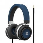 Promate BOOM Dynamic Hi-Fi Over Ear Ergonomic Stereo Wired Headset - Blue