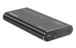 Promate CAPITAL-24 24000mAh 3.2A Dual Port USB-C & USB Type-A QC Powerbank - Black