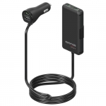 Promate CARHUB-4 4 Port USB 7.2A Car Charger with Dual Port Rear Seat Extended Charging Hub