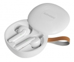 Promate Charisma Bluetooth In-Ear Feather Light TWS Wireless Earphone with IntelliTap - White