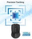 Promate CLIX-8 Wireless Optical Mouse - Black