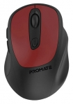 Promate Clix-9 Precision Fluid Scrolling Wireless Mouse - Red