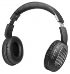 Promate CONCORD Wireless Bluetooth On-Ear Stereo Headset with Passive Noise Cancellation - Black/Grey