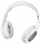 Promate Concord Bluetooth On-Ear Wireless Stereo Headset with Passive Noise Cancellation - Silver