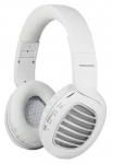 Promate CONCORD Wireless Bluetooth On-Ear Stereo Headset with Passive Noise Cancellation - White/Silver