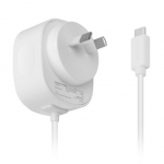 Promate CPLUG-5V3A 1.5m USB-C Wall Charging Cable - White