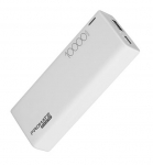 Promate Energi-10C Ultra-Slim 10000mAh High Capacity Power Bank with Type-C and 2.1A USB Charging Port - White