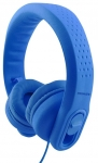 Promate FLEXURE-2 Wired 3.5mm Overhead Stereo Flexible Headset with Volume Limitation - Blue