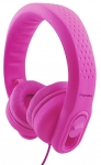 Promate FLEXURE-2 Wired 3.5mm Overhead Stereo Flexible Headset with Volume Limitation - Pink