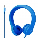 Promate FLEXURE Lightweight Kid-Safe Foam Over Ear Wired Headset - Blue