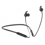 Promate FLOW Bluetooth Wireless Sporty Secure-Fit In-Ear Stereo Earphones - Black
