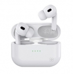 Promate Harmoni High Definition InteliTouch Wireless Stereo Earbuds with 240mAh Charging Case - White