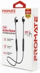 Promate HUSH Wireless Bluetooth In-Ear Earphones with Active Noise Cancelling - Black