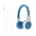 Promate IMPULSE Lightweight Child Friendly Over Ear Wired Headset - Blue