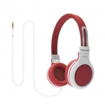 Promate IMPULSE Lightweight Child Friendly Over Ear Wired Headset - Red