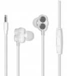 Promate IVORY In-Ear Stereo Wired Earphones with Passive Noise Cancellation & Built-In Mic - Black