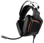 Promate KARMA Dynamic Audio Immersive Over-Ear Wired USB Gaming Headset - Black