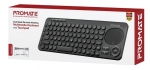 Promate KeyPad-1 Dual Mode Portable Wireless Multimedia Keyboard with Touchpad - Black