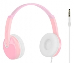 Promate JAMZ Kids Over-The-Ear Wired Stereo Headset with Built-In Mic - Pink