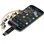 Promate KitKater Android OTG Data link with Micro-SD Card Reader