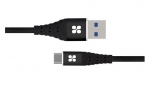 Promate NERVELINK-C 1.2m USB-C to USB Type-A Charge & Sync Cable - Black