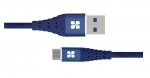 Promate NERVELINK-C 1.2m USB-C to USB Type-A Charge & Sync Cable - Blue