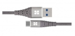 Promate NERVELINK-C 1.2m USB-C to USB Type-A Charge & Sync Cable - Grey