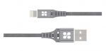 Promate NerveLink-i 1.2m Ultra-Slim USB-A To Lightning Power and Data Cable - Grey