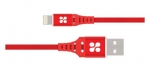 Promate NerveLink-i 1.2m Ultra-Slim USB-A To Lightning Power and Data Cable - Red