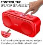 Promate Otic 10W Stereo Portable Bluetooth Wireless Speaker with MicroSD Slot - Red