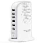 Promate POWERBASE-2 6 Port USB Charging Station - White