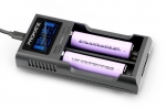Promate POWERBAY-2 Dual-Mode Battery Charger with LCD Display - Black