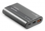 Promate POWERTANK-10 10000mAh Ultra-Fast Charging Powerbank with USB-C Power Delivery - Grey