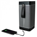 Promate Prime 20W Wireless Bluetooth Tower Speaker with 6600mAh Power Bank - Black