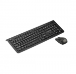 Promate PROCOMBO-1 Slim Ergonomic Wireless Keyboard and Mouse - Black