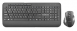 Promate ProCombo-8 Ergonomic Full-Size Wireless Keyboard & Mouse Combo with Palm Rest - Black