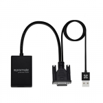 Promate proLink-V2H VGA-to-HDMI Adaptor Kit with Audio Support - Black