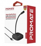 Promate ProMic-1 High Definition Omni-Directional Microphone with Flexible Gooseneck - Black