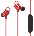 Promate ROVI Wireless Bluetooth Ergonomic In-Ear Stereo Earphone with Built-in Microphone - Red
