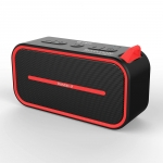 Promate Rustic-2 Portable IPX5 Water Resistant Wireless Bluetooth Speaker - Black & Red