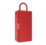 Promate RUSTIC-3 Portable IPX6 Water Resistant Wireless Bluetooth Speaker - Red