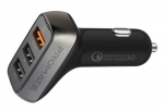 Promate SCUD-35 35W Car Charger with 3 USB Ports - Black