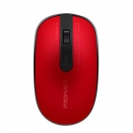 Promate Suave-2 Dual Interface Highly Tactile Wireless Ergonomic Mouse - Red