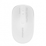 Promate Suave-2 Dual Interface Highly Tactile Wireless Ergonomic Mouse - White