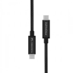 Promate ThunderLink-C40 1m USB-C Thunderbolt 3 Charge & Sync Cable with 100W Power Delivery - Black