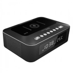 Promate TIMEBASE-1 10W Stereo Wireless Bluetooth Speaker with Wireless Charging Pad - Black